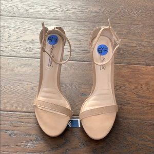 Nude strappy stilleto heels